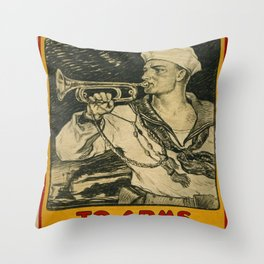 Vintage poster - Enlist in the Navy Throw Pillow