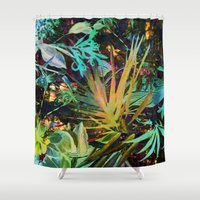 jungle Shower Curtains featuring jungle by clemm