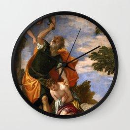 "Veronese (Paolo Caliari) ""Sacrifice of Isaac"" Wall Clock"