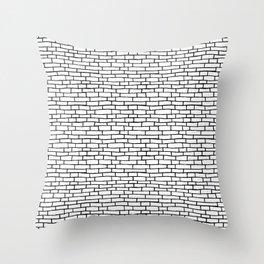 Brick road - White and Black Throw Pillow