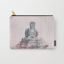 Peace and Harmony watercolor buddha pastel illustration Carry-All Pouch