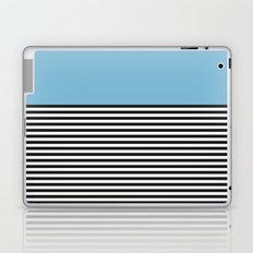 STRIPE COLORBLOCK {DUSK BLUE} Laptop & iPad Skin
