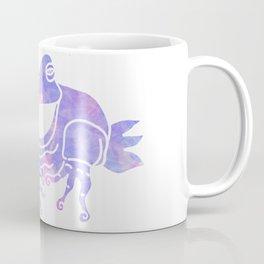Purple frog silhouette Coffee Mug