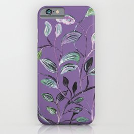 Silky Lavender Greenery Leaves iPhone Case
