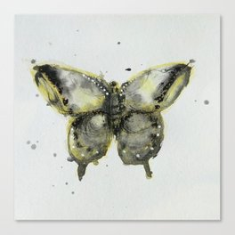 Yellow and Gray Butterfly Canvas Print