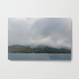 Foggy Maui View Metal Print