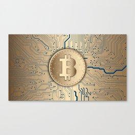 Bitcoin money gold Canvas Print