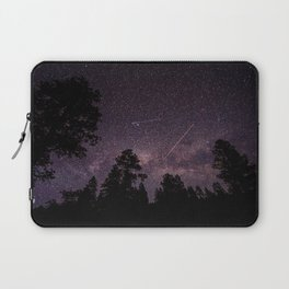 Busy Sky - Shooting Stars, Planes and Satellites in Colorado Night Sky Laptop Sleeve