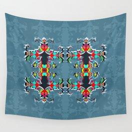 dark blue floral pool Wall Tapestry