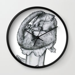 catching up beauty sleep in bed i lay; so i knew i'd have a mice day! Wall Clock