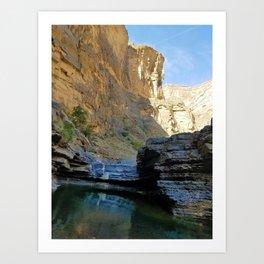 Wadi Canyon Colors Art Print