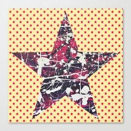 Hopkin's Bedtime - Orange Star Canvas Print