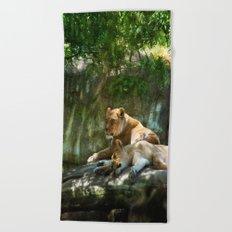 Portland Lioness Beach Towel