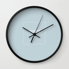 kenny (pastel blue) Wall Clock