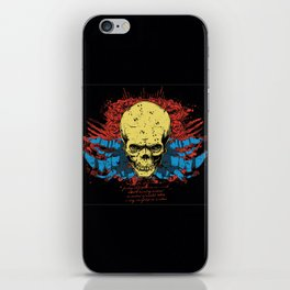 Ribbon skull iPhone Skin