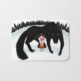Little Red Riding Hood and the Big Bad Wolf Bath Mat