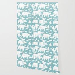 Polar gathering (peppermint) Wallpaper