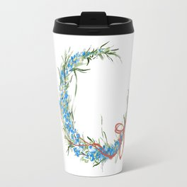 Blue moon and little florets Travel Mug
