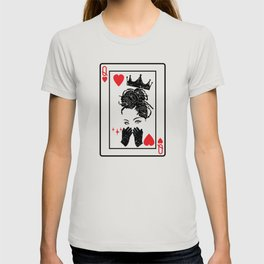 Black Queen Of Hearts Blackjack Cards Poker Couple T-shirt