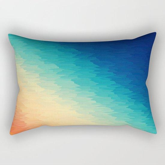 Warm to Cool Texture Rectangular Pillow