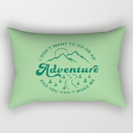 I Don't Want To Go  (Evergreen) Rectangular Pillow