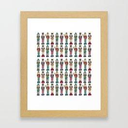 The Nutcracker Prince Pattern Framed Art Print