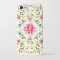 folk iPhone & iPod Cases featuring folk floral by clemm
