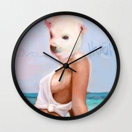 BI POLAR CHICK Wall Clock
