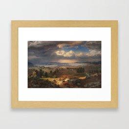 Lund, Bernt (1812-1885) View of Christiania from Sinsenbakken 1846 (1846) Framed Art Print