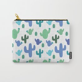 Cactus blue and green #homedecor Carry-All Pouch