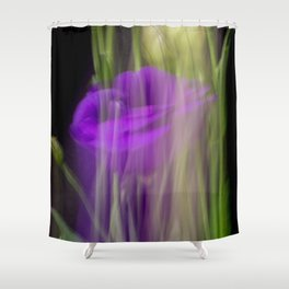 Fleur Blur-Abstract Purple Flower Photo Shower Curtain