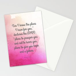 Jeremiah 29:11, Encouraging Bible Verse Stationery Cards