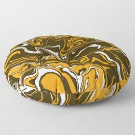 Brown, Orange and White Fall Harvest Marbled Melt Floor Pillow
