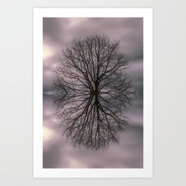 Oak tree before the storm #2 Art Print