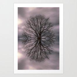 Oak tree before the storm #2 Art Print