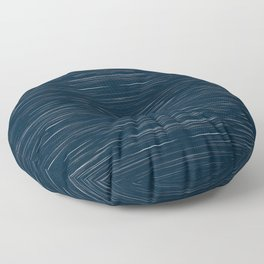 Meteor Stripes - Dark Denim Floor Pillow