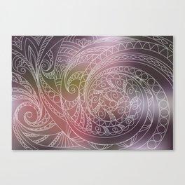 transparent zen spiral pattern 1 on the gradient Canvas Print