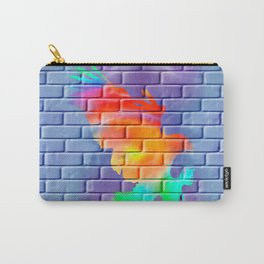 Graffity eagle on brick wall Carry-All Pouch