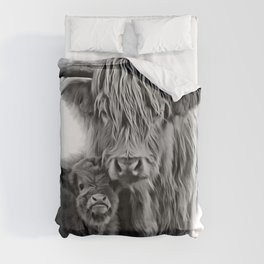 Highland Cow and The Baby Duvet Cover