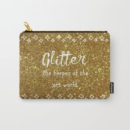 Quirky funny glitter - gold Carry-All Pouch