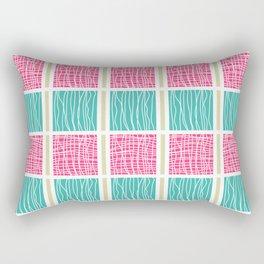 Blue and Pink Rectangular Pillow