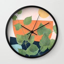 Nature Geometry IX Wall Clock