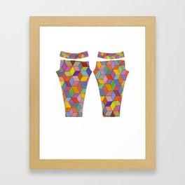 Swirly Cubes Framed Art Print