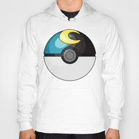 pokeball Hoodies featuring Moon Pokeball by Amandazzling