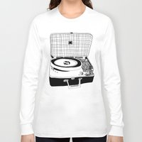 record Long Sleeve T-shirts featuring Record Player by Paul McCreery