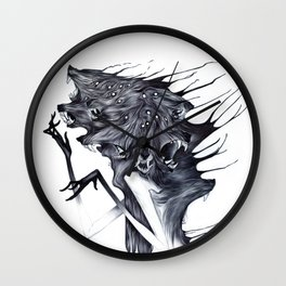 A Forest's Darkness Wall Clock