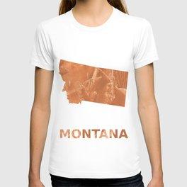 Montana map outline Peru hand-drawn wash drawing T-shirt
