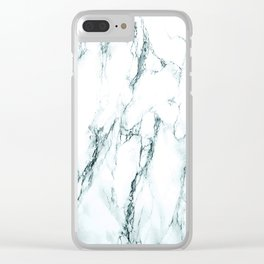Green Marble Look Clear iPhone Case