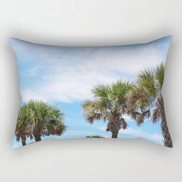 Line of Palms Rectangular Pillow