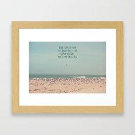 Bird flying high Framed Art Print